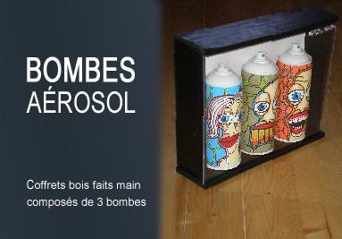 Coffrets bois 3 bombes aéro'